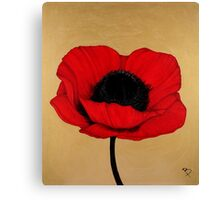 Red Poppy Floral Art Print Canvas Print