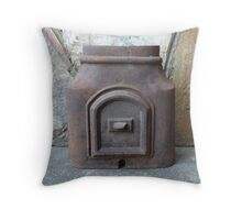 Antique Cast Iron Pipe Piece Throw Pillow