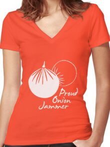 Proud Onion Jammer Women's Fitted V-Neck T-Shirt
