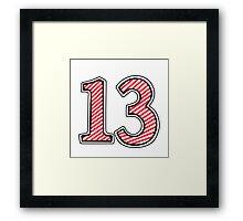 Lucky 13 Framed Print