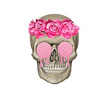 Roses and Skulls Photographic Print