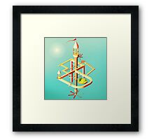 Low Poly Puzzle Scene Framed Print