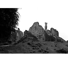 Castle ruins in England Photographic Print