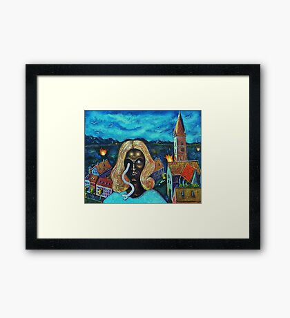 The Angel of Death Has Snake Eyes Framed Print