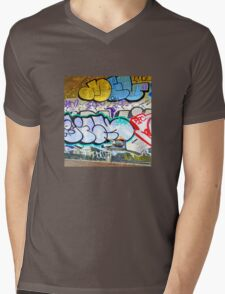 Brooklyn Graffiti 11 Mens V-Neck T-Shirt