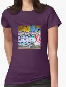 Brooklyn Graffiti 11 Womens Fitted T-Shirt