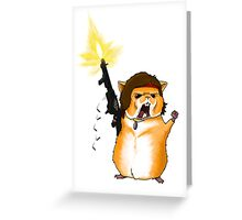 Hamster Rambo Greeting Card