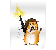 Hamster Rambo Poster