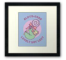 Sloth-chan Framed Print