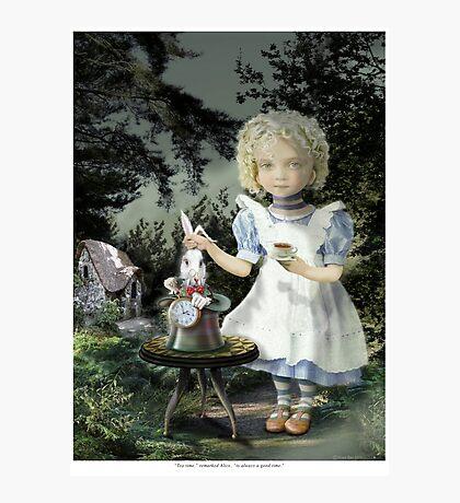 Alice Tea Time Photographic Print