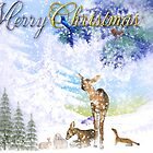 Merry Christmas from the Woodland Animals  by Elaine  Manley