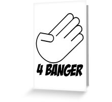 4 Banger Decal (White) Greeting Card