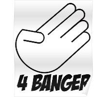4 Banger Decal (White) Poster