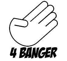 4 Banger Decal (White) Photographic Print