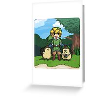 Legend of Zelda Skyward Sword: Link and Kikwis Greeting Card