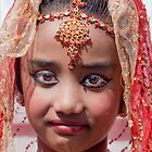 Young Indian Girl, NYC, Diwali, 2011 by Robert Ullmann