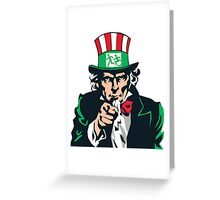 Accessible Exit Sign Project Uncle Sam Greeting Card