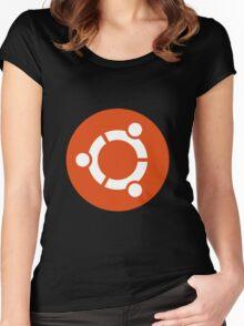 Ubuntu 1-Colour Logo Women's Fitted Scoop T-Shirt