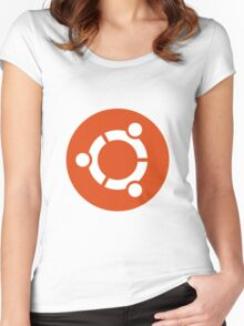 Ubuntu 1-Colour Logo Women's Fitted Scoop T-Shirt