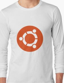 Ubuntu 1-Colour Logo Long Sleeve T-Shirt