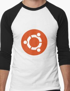 Ubuntu 1-Colour Logo Men's Baseball ¾ T-Shirt