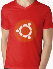 Ubuntu 1-Colour Logo Mens V-Neck T-Shirt