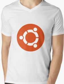 Ubuntu 1-Colour Logo Mens V-Neck T-Shirt