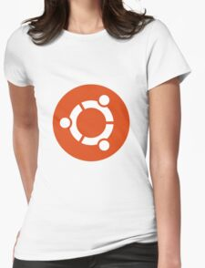 Ubuntu 1-Colour Logo Womens Fitted T-Shirt