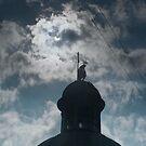Crescent Sun over Lviv by Oleksii Rybakov