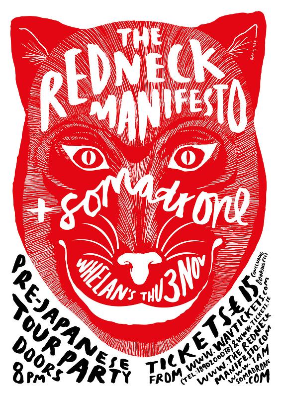 The Redneck Manifesto Pre Japanese Tour Party 2011 by M&E  Design