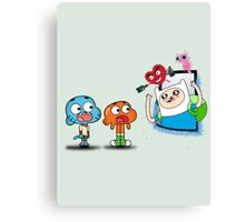 ADVENTURE TIME X GUMBALL Canvas Print
