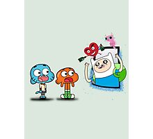 ADVENTURE TIME X GUMBALL Photographic Print