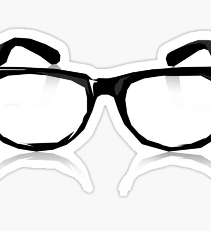 Geek Glasses Sticker