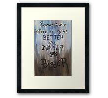 The Painful Truth  Framed Print