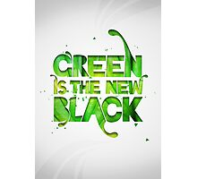 Green is the new black Photographic Print