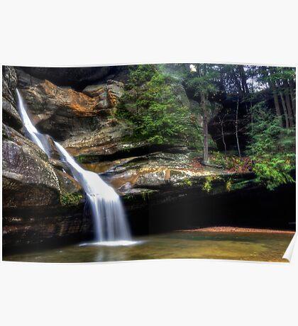 Cedar Falls in October Rain Poster