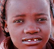young himba girl by Klaus Brandstaetter