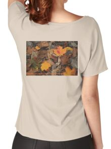 The Heart of the Leaf Grows Red Women's Relaxed Fit T-Shirt