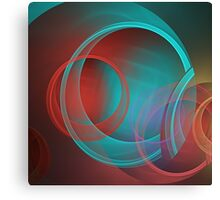 Translucent circles fractal abstract Canvas Print