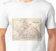 Vintage Gravesend and Coney Island Map (1873) Unisex T-Shirt