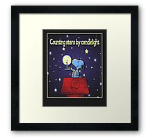 Counting Stars by Candelight  Framed Print