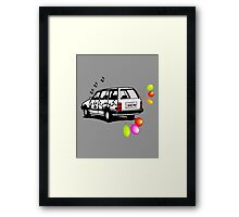 The Party Wagon Framed Print