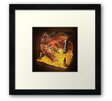 Lord of the Rings - The Hobbit - Smaug Framed Print