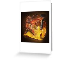 Lord of the Rings - The Hobbit - Smaug Greeting Card