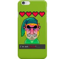 I´M NOT ZELDA! iPhone Case/Skin