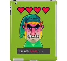 I´M NOT ZELDA! iPad Case/Skin