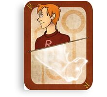 Ron Weasley Playing Card Canvas Print