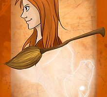 Ginny Weasley Playing Card by imaginativeink
