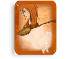 Ginny Weasley Playing Card Canvas Print