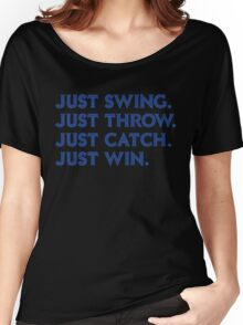 Just Win. (Blue) Women's Relaxed Fit T-Shirt